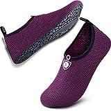 SIMARI Unisex Water Sports Shoes Barefoot Slip-on Indoor Outdoor Sports Activities SWS002 Circle dot dot Purple 9.5-10.5
