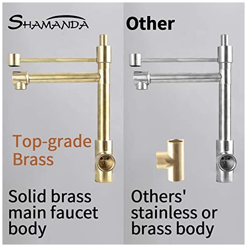 Farmhouse Kitchen SHAMANDA Commercial Style Pre-Rinse Kitchen Faucet, 2-Function High Arc Kitchen Sink Faucet with Pull-Out Spring Spout… farmhouse sink faucets
