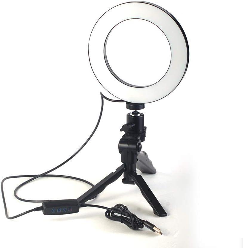 مجموعة عدة التصوير استديو على سطح طاولة من 3 قطع تضم حلقة اضاءة وكرة سديمية صغيرة وحامل تثبيت لالتقاط صور سيلفي جميلة وصندوق الصور الفوتوغرافية