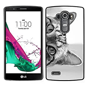 [Neutron-Star] Snap-on Series Teléfono Carcasa Funda Case Caso para LG G4 [Cat Eyes Black White Kitten Cute Pet]