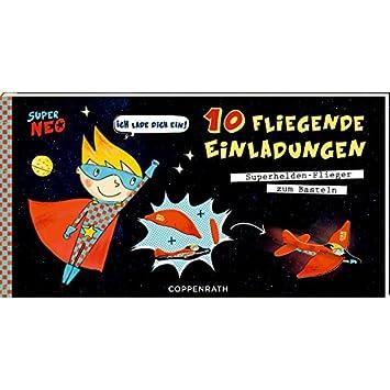 Coppenrath 92739 Einladungskarten   10 Fliegenden Einladungen Super Neo