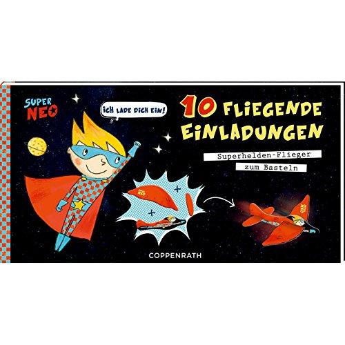 Coppenrath 92739 Einladungskarten   10 Fliegenden Einladungen Super Neo:  Amazon.de: Spielzeug