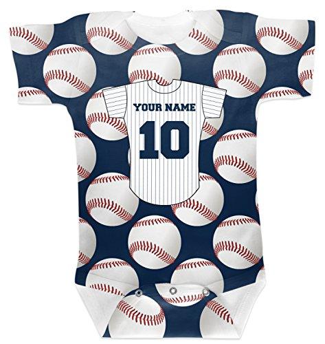 Baseball Jersey Onesie - 4