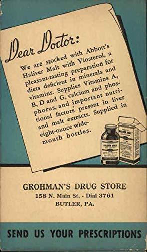 (Dear Doctor - Grohman's Drug Store Doctors & Medicine Original Vintage Postcard)