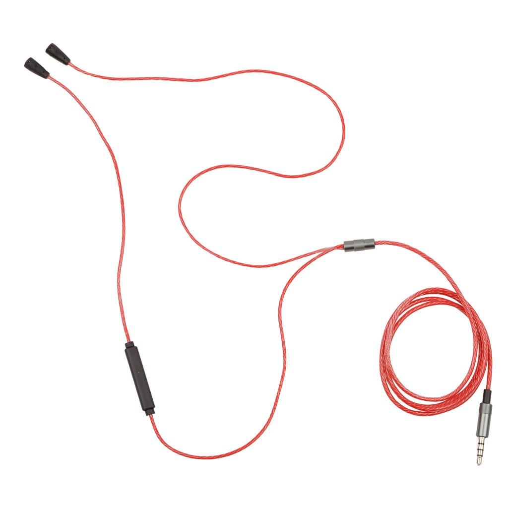 ROT Ersatz 5N OFC Sennheiser IE8 IE80 IE8i Kabel Kopfh/örer f/ühren w//Mic Volume-Regler REYTID Inline-Fernbedienung Blei 525719