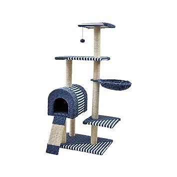 xb Centro de Actividades para Gatos Sisal Gatito Árbol Arrancador Scratcher Rasguño Juguete Escalada Árbol Cama Casa Nivel múltiple: Amazon.es: Hogar