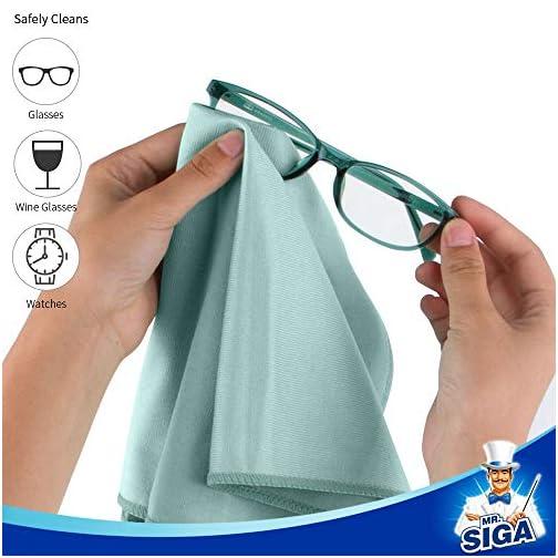 "MR.SIGA Ultra Fine Microfiber Cloths for Glass, Pack of 6, 35 x 40 cm 13.7"" x 15.7"" |"