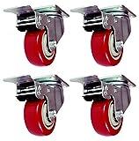 Online Best Service 4 Pack Caster Wheels Swivel Plate Stem...