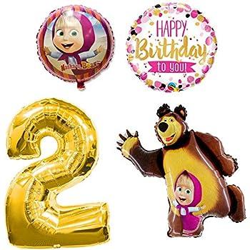 Amazon.com: Masha and the Bear - Globos de colores para ...