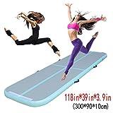Focussexy Inflatable Gymnastics Tumbling Mat Air Track Electric Pump Floor