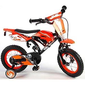.Volare Vélo Enfants Garçon 12 Pouces Motobike Frein Avant sur Le Guidon Frein Arrière à Rétropédalage Roues de… 1