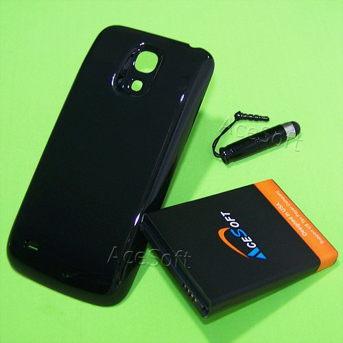 3Kits Replacement Samsung Galaxy S4 Mini 6400mAh Extended Battery with Thicker Back Cover Pen for AT&T Samsung Galaxy S4 Mini SGH-I257 MobilePhone USA