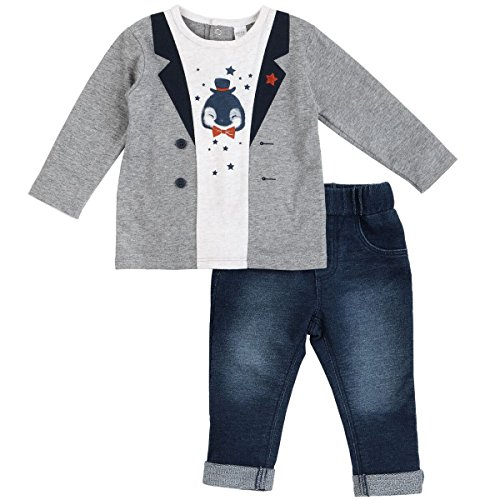 Price comparison product image Petit Lem Baby Boys' Penguin Ebroidered Jacket Top with Pants,  Holiday,  12 Months