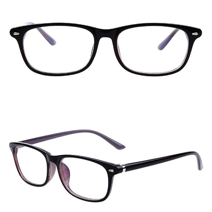 SupremeLife Men Women Rectangle Frame Eyeglass, Retro Clear Full ...