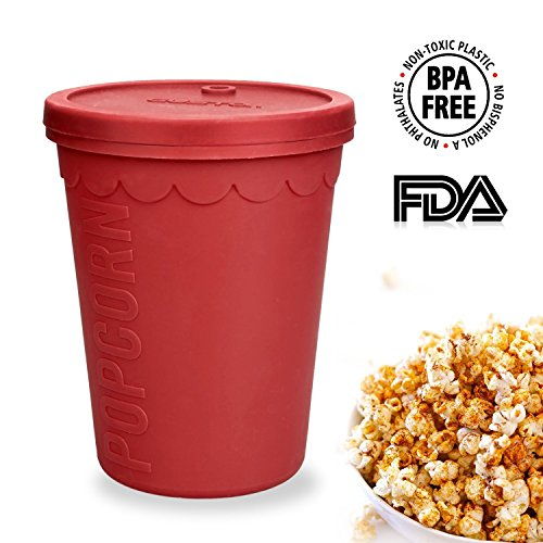 GIWOX Nontoxic Microwave Popcorn Popper , No Oil Needed Sili