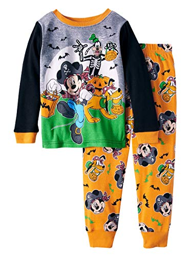 Mickey Mouse Halloween Glow-in-The-Dark Cotton Tight Fit Pajamas, 2-Piece Set (Toddler Boys) (3T) -