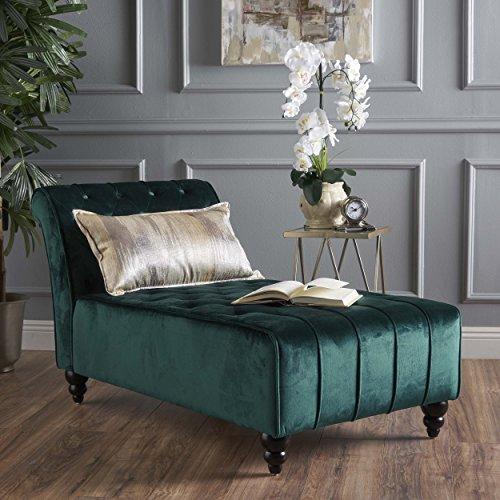Christopher Knight Home 301265 Rubie Chaise Sofa, Dark Teal
