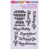 Stampendous Perfectly Clear Stamp, Say it Today