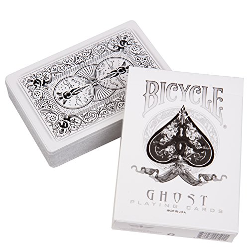 - Bicycle Ghost Playing Cards by Ellusionist - White - Thick Stock