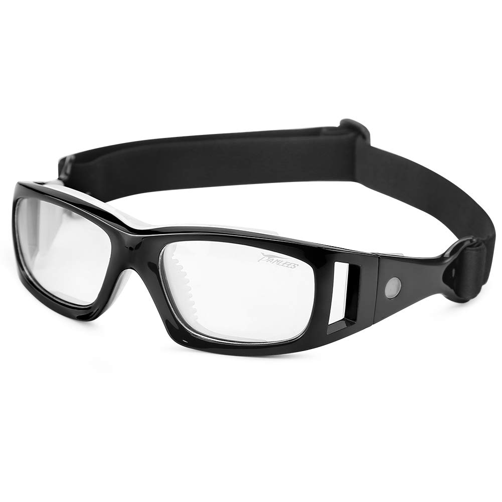 210c7e8f0459 Amazon.com   Panlees Goggles Sports Glasses Adjustable Elastic Wrap Eyewear  For Soccer Basketball Tennis Lover (Black)   Sports   Outdoors