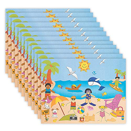 Kicko Make an Ark Stickers Goody Bags Room Decor Set of 12 Ship Stickers Scene for Birthday Treat School Activity Arts and Crafts Group Projects