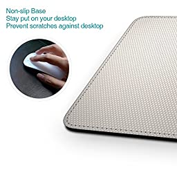 dodocool Mouse Pad PU Leather Surface Non-slip Base Stitched Edges 7.48\