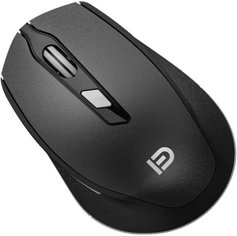 Black Mobestech Wireless Mouse 2.4GHz Portable Optical Mouse with USB Receiver AA Battery i365 Gaming Mouse for Office Computer PC Working Laptop