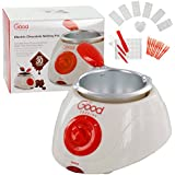 Chocolate Melting Pot- Electric Chocolate Fondue Fountain Pot with over 30 Free Accessories and 12 Recipes