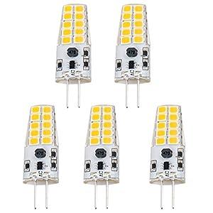Luxvista 3W G4 LED Light Bulb 2 Pin Capsule Lamp Light Cool White 6000K 12V AC/DC Equivalent 20W-30W Halogen (5-Pack)