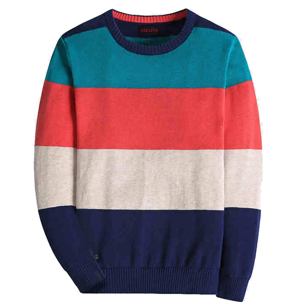 basadina Boys Jumpers Kids Knitwear Thin Sweater Striped Long Sleeve Pullover 4-14 Years Kids Clothes