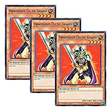 Yu-Gi-Oh! y3 Pieces setz English Version SDMY-EN 018 Obnoxious Celtic Guard Swordsman of Elven Fighting (Normal) 1st Edition
