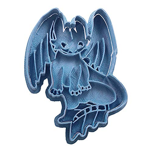 Cuticuter Toothless Body How to Train your Dragon Cookie Cutter, blue