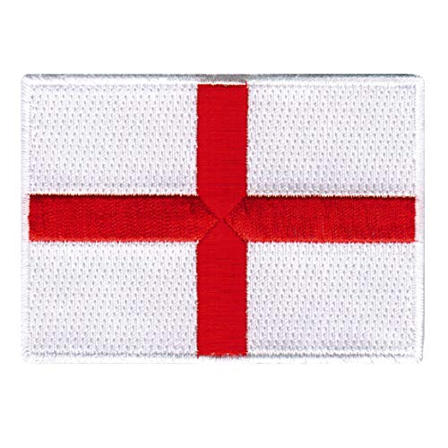 ENGLAND FLAG embroidered iron-on PATCH ST GEORGES CROSS UK G