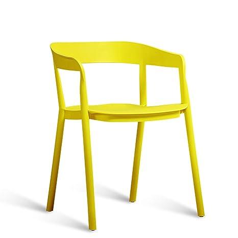 HWL Sillas Minimalistas nórdicas, sillas de Respaldo para ...