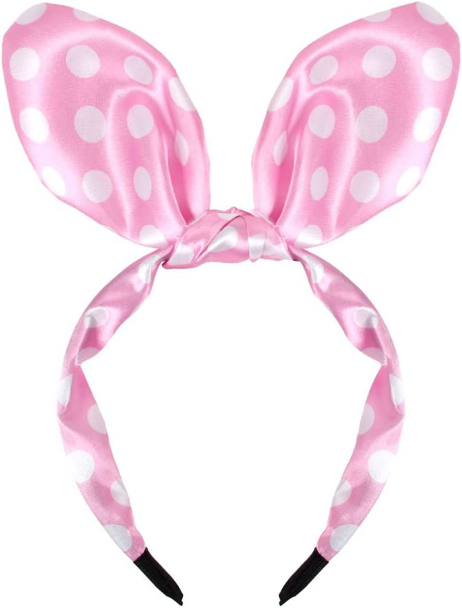 select:HR-11 black white dotted Alsino Hairband Hair Accessory Bunny Ears Polka Dot for Theme Party