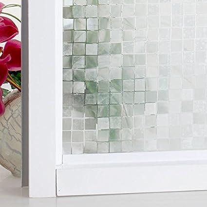Bloss Fashion alta calidad hibisco película para ventana de cristal esmerilado opaco translúcido puerta corredera adhesivo (17.7