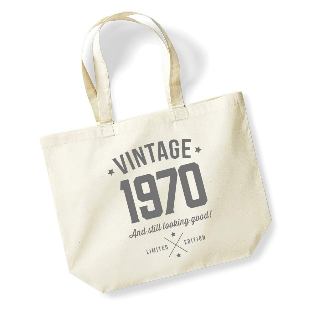 50th Birthday Gifts Present Year 1969 Shopping Shopper Keepsake Womens Tote Bag