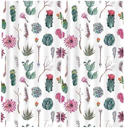 QinKingstore 植物フローラル2ピース/セット150×166センチウィンドウカーテン用ホームキッチンリビングルームベッドルームウィンドウ装飾