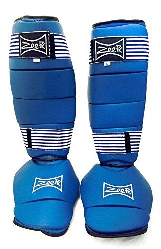 Liberty Supply SHIN Guard Protector Shin Instep Guard Martial Arts Sparring UFC MMA Karate Taekwondo Size L