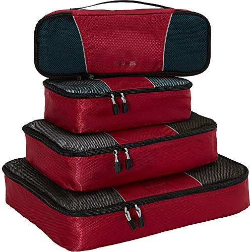 (eBags Classic Packing Cubes for Travel - 4pc Classic Plus Set - (Raspberry))