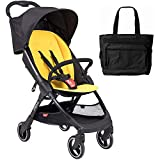 Phil & Teds Go Lightweight Infant Stroller - Lemon with Diaper Bag