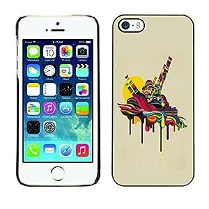 Carcasa Funda Prima Delgada SLIM Casa Case Bandera Cover Shell para Apple Iphone 5 / 5S / Business Style Psychedelic Melting