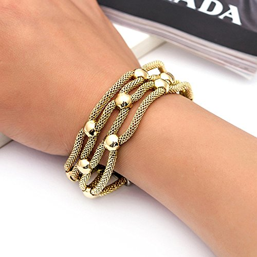 supply fashion simple hollow jewelry magnet buckle alloy rhinestone bracelet Yiwu Small Commodity,Rose gold by Yntmerry (Image #7)'