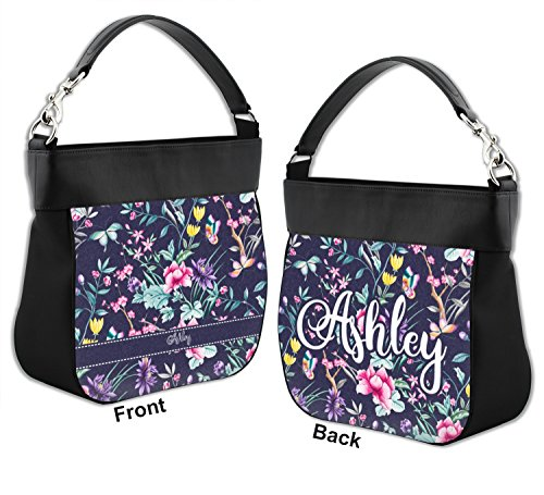 Genuine Purse w Hobo Front Back Chinoiserie Leather Personalized Trim amp; PtqBEnx