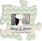 Always and Forever No Matter What 4x6 Photo Frame Inspirational Puzzle Piece Wall Art Plaque