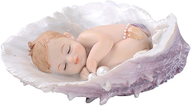 Miniature Sleeping Baby with Painted Hair and Long Eyelashes ~ Tiny Figurine for Crafting Art Jewelry