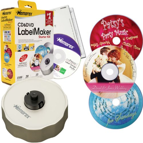 Memorex CD/DVD LabelMaker Labeler Starter Kit