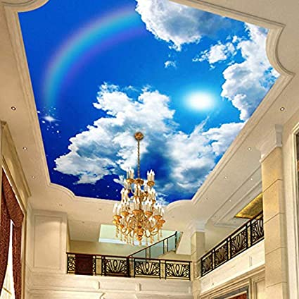 Amazon Com Pbldb Custom Large Ceiling Mural Wallpaper Blue Sky