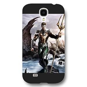 New Zeng Aquaman Superheros Custom Phone Case for Samsung Galaxy S4, DC comics Aquaman Customized Samsung Galaxy S4 Case, Only Fit for Samsung Galaxy S4 (Black Frosted Shell)