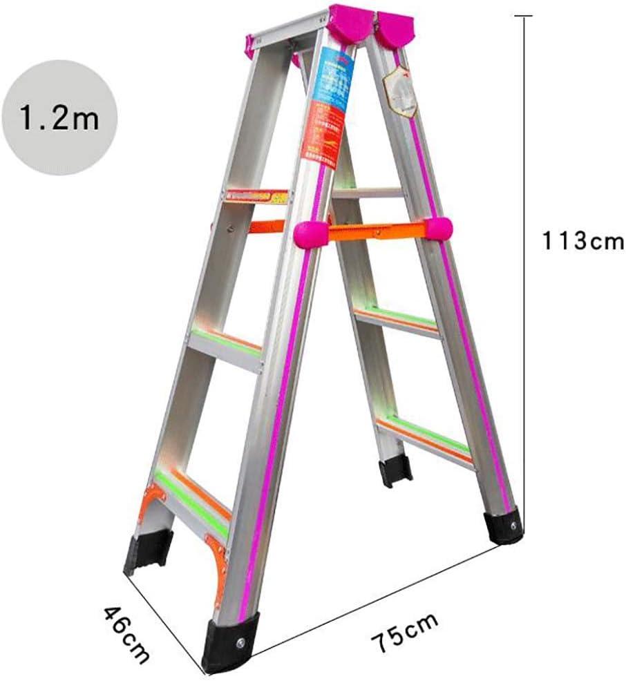 Escalera de aluminio plegable, multifunción, antideslizante, escalera de 4 peldaños, escalera de espiguilla para el hogar, cocina, almacén: Amazon.es: Bricolaje y herramientas